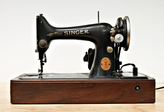 Old Singer Sewing Machine Drawings http://coolmaterial.com/roundup/paraphernalia-bart-kyzar-of-mission-workshop/