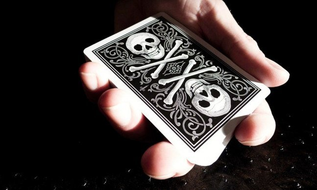 Bicycle Skull And Bones Cards Cool Material