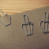 Middle Finger Paperclips