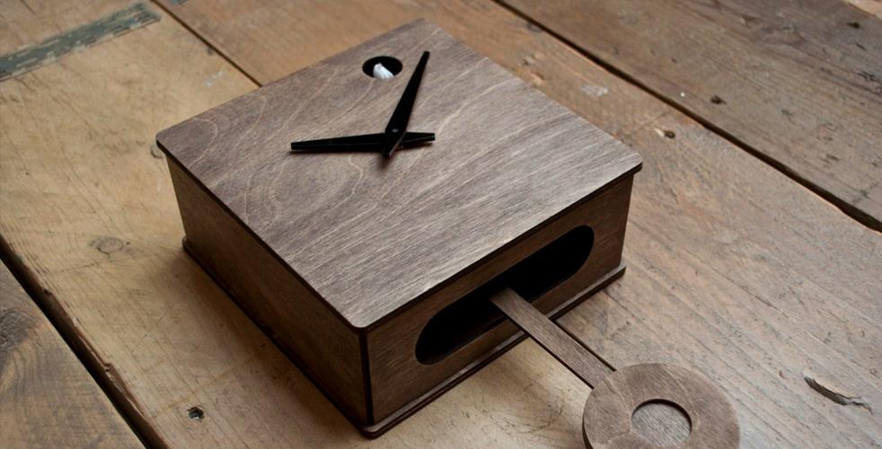 Handmade modern cuckoo clock cool material - Contemporary cuckoo clock ...