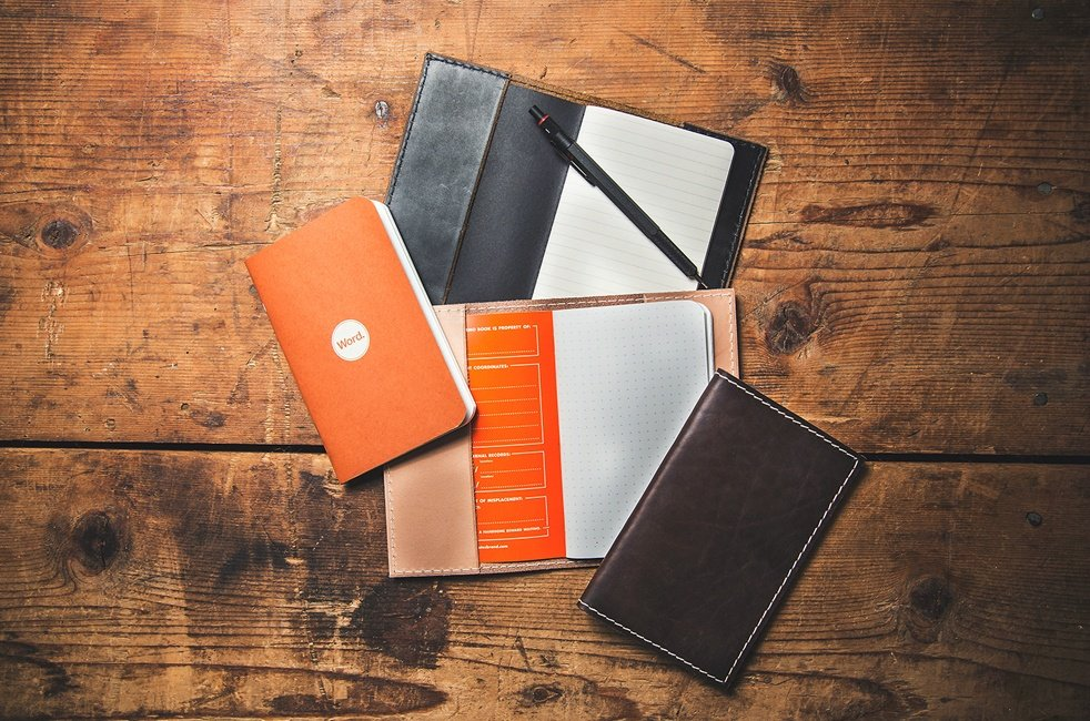 Cool Notebook Cover : Word leather notebook covers cool material