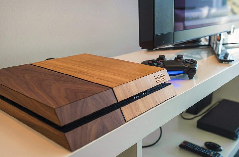 Balolo Wooden Cover Makes Your Playstation 4 Look Good