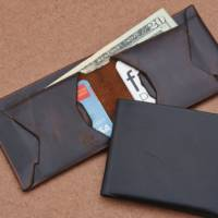 One-Piece Leather Wallets Made in Brooklyn