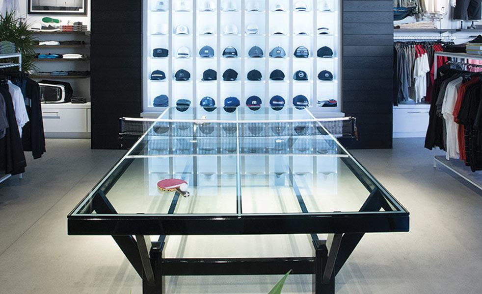 Handcrafted Glass Top Ping Pong Table Cool Material