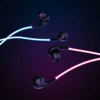 Headphones That Glow With Laser Light