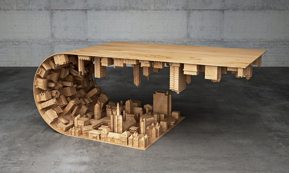 Inception inspired coffee table cool material for Awesome cool coffe tables