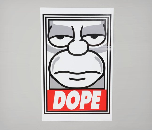 Shepard-Fairey-x-The-Simpsons-Dope-Poster-1