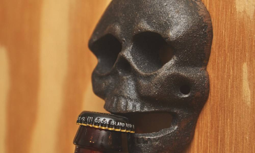 Wall Mounted Skull Bottle Opener Cool Material