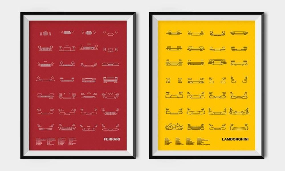NOMO-Designs-Auto-Icon-Prints-FERRARI-LAMBORGHINI