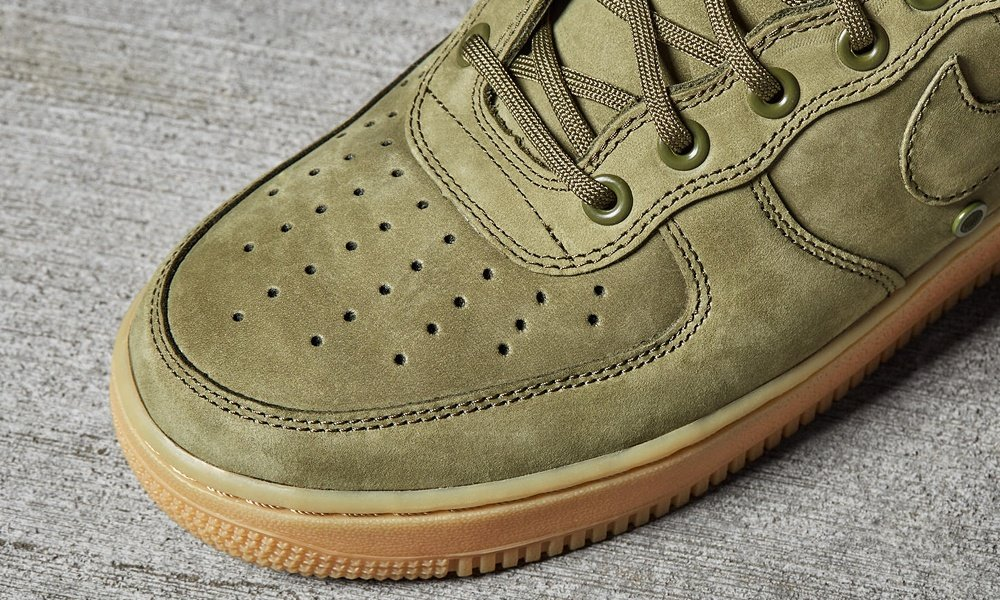 Nike Special Forces Air Force 1 High Top Green Gum Light