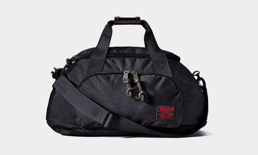 Filson Ballistic Nylon Duffel Backpack Hybrid Bag Cool Material