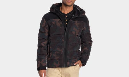 Cole-Haan-Hooded-Quilted-Puffer-Down-Jacket